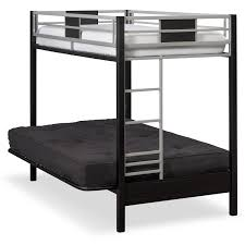 Black Futon Bunk Bed Samba Youth Futon Bunk Bed With Black Futon Mattress