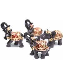 Elephant Home Decor Spooktacular Savings On Set Of 4 Feng Shui Black Thai Elephant