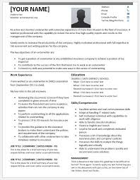 underwriter resume templates for ms word resume templates