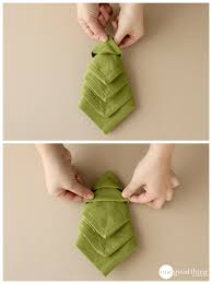 how to make christmas tree napkins u0026 more festive table decor