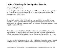 immigration hardship letter world of letter u0026 format