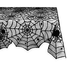 Black And White Table Cloth Amazon Com Black Lace Tablecloth Set 2 Pieces Spider Web Gothic