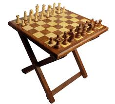 Outdoor Checker Table Made From Wooden Folding Table Chess Made Of Sheesham Wood Size 12x12 Inch