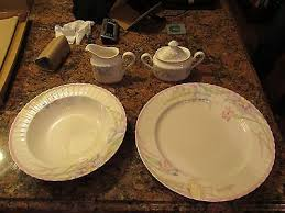 lovely petite mikasa pink melody bone china 45 piece service for 8