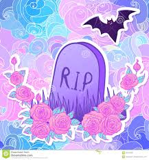 halloween background cute tombstone bat roses glamour halloween background in neon past