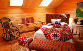 Attic Bedroom Ideas by Awesome Small Attic Bed Room Idea With Interesting Wooden Wall And