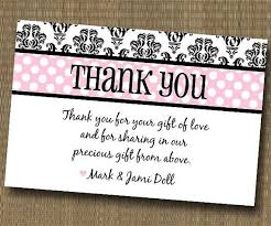 bridal shower thank you cards what to write in a baby shower thank you card for someone who didn