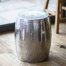 silver drum coffee table silver drum table table design ideas