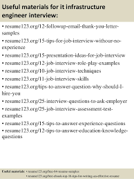 Resume Templates It Top 8 It Infrastructure Engineer Resume Samples