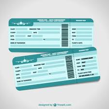 airplane tickets holiday vector vector free download