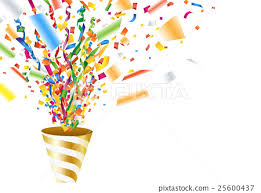 party confetti party popper confetti ticker stock illustration 25600437