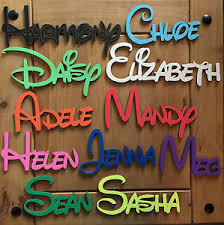 disney personalised wooden name plaques words letters wall door