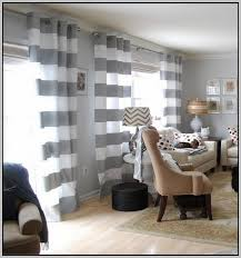 Grey White Striped Curtains Gray And White Striped Curtains
