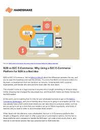 Magento B2b E Commerce Platform B2c E Commerce B2b Vs B2c E Commerce You Need A B2b Specific Platform