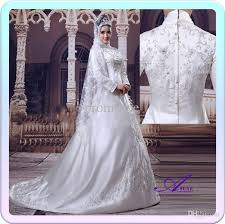 wedding dress for muslim discount hot sale islamic wedding dress high quality embroidery