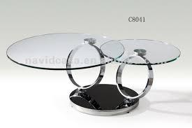glass round coffee table iron wood