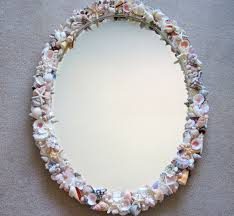 home decor beach decor seashell mirror nautical decor natural