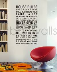 vinyl wall decal sticker art house rules zoom