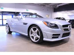 used mercedes convertible 2015 mercedes benz slk class convertible for sale in edmonton ab