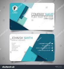 blue modern creative business card name stock vector 546970984