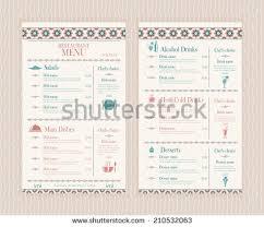 elegant simple restaurant cafe menu list stock vector 210532063