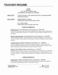 teachers resume template resume template with education best of secondary