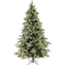fraser hill farm 9 ft pre lit glistening pine artificial