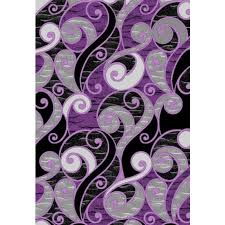 Black And Purple Area Rugs Grey And Purple Area Rug Roselawnlutheran Inside Purple