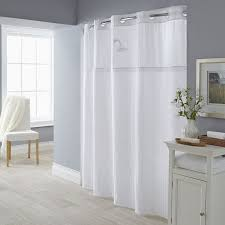Hotel Shower Curtain With Snap In Liner Hookless Shower Curtains With Snap On Liner Eyelet Curtain