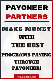 money online with payoneer partners sites at low minimum payment