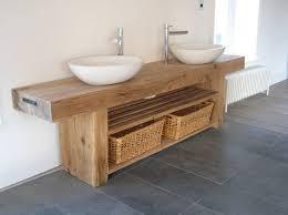 Unfinished Bathroom Furniture Likeable Splendid Solid Oak Bathroom Vanity Unit At Wood Vanities