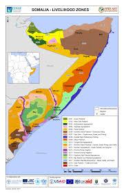 Usda Zone Map Somalia Livelihood Zone Map Mon 2015 08 10 Famine Early