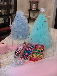 pretty tulle christmas trees just the right size for a