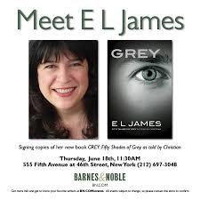 E L James El James Announces Book Signing Events For U0027grey U0027 In New York And