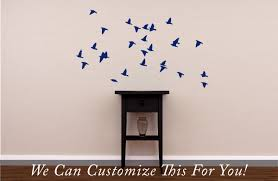 bird flock flying in air and sky small set 26 wall vinyl decal