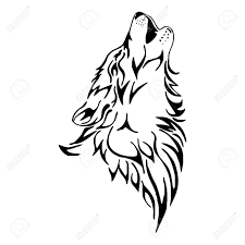 wolf howl vector royalty free cliparts vectors and
