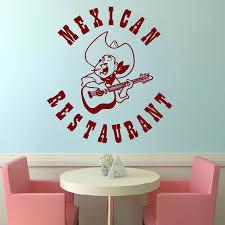 online get cheap music wall murals aliexpress com alibaba group mexican restaurant sign wall sticker folk music sombrero guitar design wall decal mexican food home decor wall murals w 25