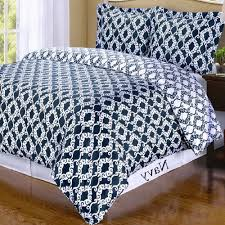 moroccan navy blue and white cotton duvet cover set luxury