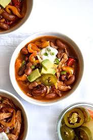 slow cooker chicken fajita chili foodiecrush com