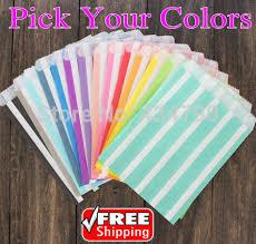 paper favor bags 200pcs your colors vertical stripe party paper favor bags