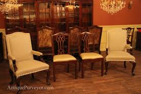 Antique Reproduction Dining Chairs Upholstered Dining Room Arm Chairs Queen Anne Linen Upholstery