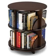 Revolving Bookshelf The Rotating Bookcase Hammacher Schlemmer
