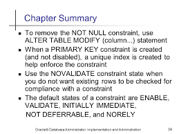 Alter Table Modify Column Oracle Data Integrity Constraints Ppt Download