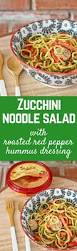 Noodle Salad Recipes Zucchini Noodle Salad With Roasted Red Pepper Hummus Dressing