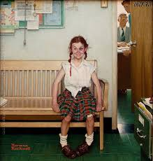 with black eye on canvas 34x30 by norman rockwell 1953