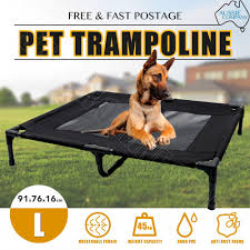 trampoline bed dog puppy cat heavy duty frame mesh hammock canvas