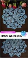 flower wheel doily free crochet pattern crochet for home