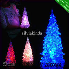 27cm changing ice acrylic holiday led battery operated color