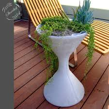 Mid Century Modern Patio Furniture Willy Guhl Mid Century Modern Concrete Outdoor Spindel Planter