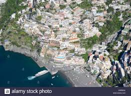 Positano Italy Map Seaside Resort Of Positano Aerial View Amalfi Coast Campania
